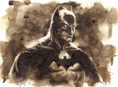 Batman - Original Coffee Drawing By Juapi