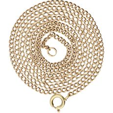 14 kt - yellow gold curb link necklace - length 51.5 cm