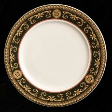 """Rosenthal Germany, for VERSACE - a large circular dish, white and yellow, design """" MEDUSA """" - 28,5 cm diameter , 1980´s"""