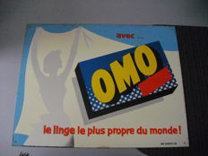 Advertising plate OMO - France - 1959