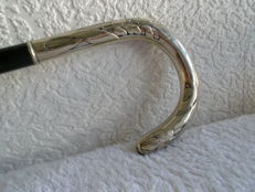 Walking stick with Art-Nouveau silver handle - Germany - ca. 1910