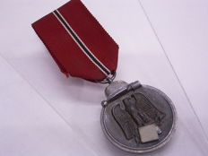 Order / Medal World War II Third Reich, Wehrmacht, Winter Battle in the East on the Original Ribbon