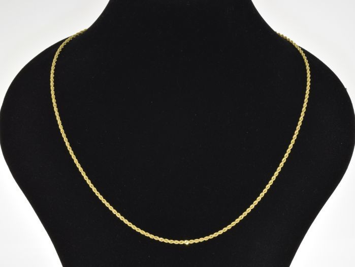 "18k Gold Necklace. Chain ""Cord"" - 50 cm. No reserve price."