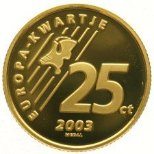 The Netherlands - 25 Cent 2003 'Europe quarter' - gold