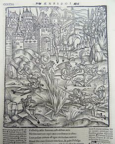 Gruninger Master; Virgil - Crespin Edition; Troops Camp and Rest outside Troy. Trojan War. - 1529
