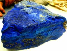 A-Grade Stunning Large Old Mine 4 Royal Blue Lapis Lazuli Rough Crystal - 330 x 290 x 200 mm - 22 kg