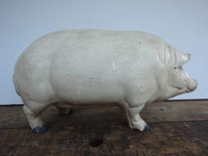 Exceptionally large (40 cm) piggy bank, cast iron, circa 1950