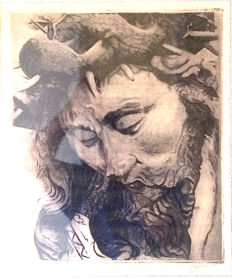 Etch - Jesus with crown of thorns