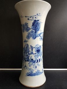 A Large Blue and white Gu vase ,China 19th century