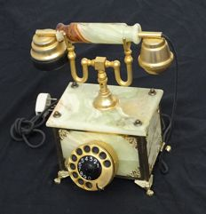 Onyx telephone, mid to late last century