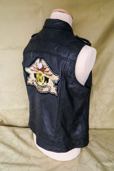 Original Harley Davidson supple leather waistcoat - L - XL - 1W.