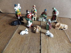 Nativity scene - 11 porcelain characters