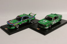 Spark - Scale 1/43 - BMW CSL winner 1000 km Nurburgring 1976 - Limited 500 pieces & BMW CSL winner Nurburgring 1977 - Limited 1000 pieces