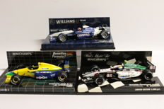 Minichamps - Scale 1/43 - Lot with 3 models: Minardi, Williams, & Benetton