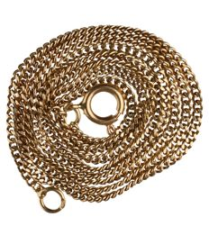 14 kt – Yellow gold curb link necklace – Length: 47.2