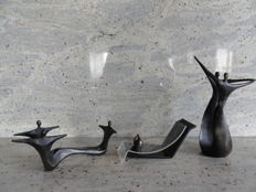 3 beautiful burnished sculptures, Corry Ammerlaan