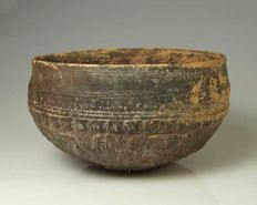 A Megarian-ware Decorated Bowl - H. 7.5 cm (3 inches)