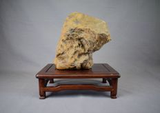 A sculpture made from petrified wood - 18 cm, 4.49 kg