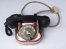 Red copper telephone with a Bakelite receiver - 1950