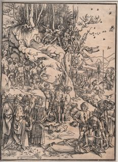 Albrecht Dürer ( 1471 - 1528 ) -  Martyrdom of the ten thousand Christians - 1496