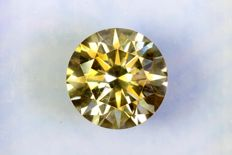 Fancy INTENSE Yellowish GREEN - 1.41 ct - SI1 - Excellent Cut - * NO RESERVE PRICE *