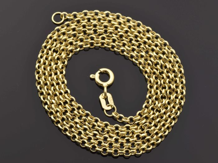 "18k Gold Necklace. Chain ""Rolo"" - 54.5 cm"