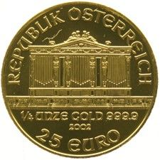 Austria 25 Euro -2002 'Philharmonika' - 1/4 oz of gold