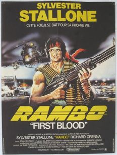 Fist blood (Rambo, Sylvester Stallone) - 1982