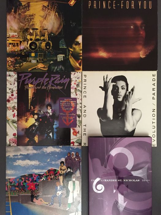 Lot of 5 Prince albums and 1 photobook