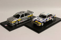 Spark - Scale 1/43 - Peugeot 504 Ivory Coast Rally 1976 and Renault Championnat de France de Supertourisme 1988