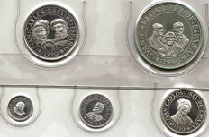 5th Centenary 1990 series five values 100, 200, 500, 1000 and 2000 pesetas (2nd series) PROOF Personalities