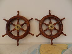 Two Ships  Handmade Mahognie steering Wheels  Netherland