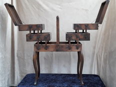 Biedermeier French foldable sewing furniture, sewing box