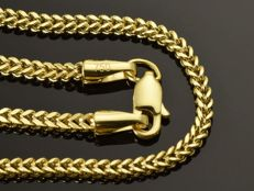 "18k Gold Necklace. Chain ""Franco"" - 50 cm. No reserve price."