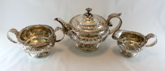 Antique (George III) Sterling Silver Tea Set, Thomas Austin, London 1824