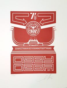 Shepard Fairey (OBEY) - Chinese Banner Letterpress