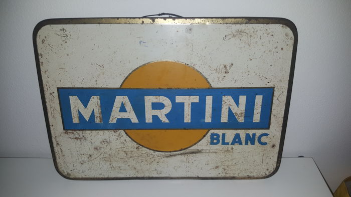 Martini Blanc advertising sign - 1960s