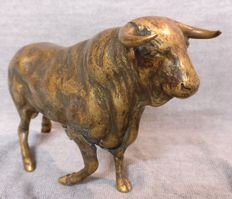 Bronze prancing bull, lost wax casting - Turin, Italy - early 1900s