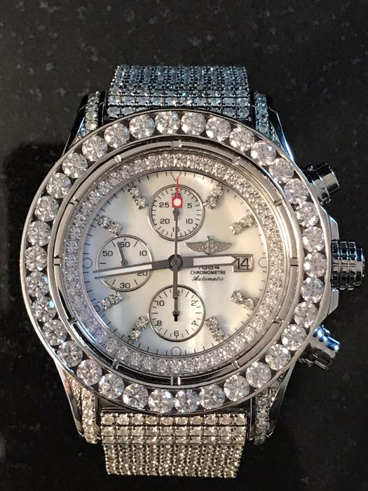 Breitling - Super Avenger (with diamonds) - A13370 - Heren - 2011-heden
