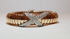 18 kt gold bracelet with diamonds totalling 1.05 ct