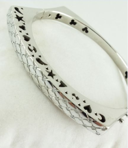 Brilliant bangle - 750 white gold - 38 diamonds - totaling 0.38 ct