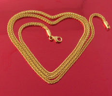 18k/750 Yellow Gold Necklace Palm-Flat - 50 cm - 4.17 gr   /// No reserve price///