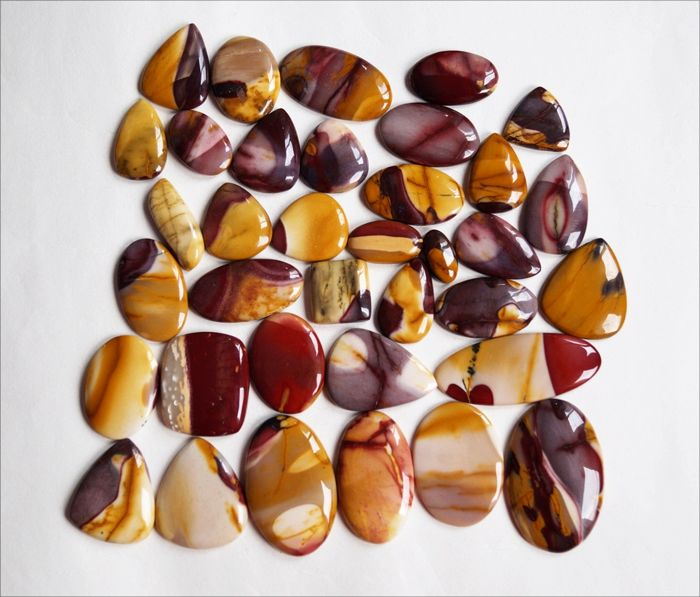 Mookaite Gemstone lot 1372 ct - 36 pcs