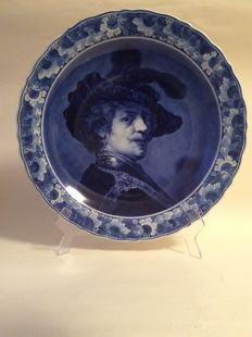 Porceleyne Fles - Decorative large plate painted after Rembrandt