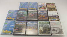 Train trivia - 14 different DVDs with train themes. Amongst others: The Haarlemmermeer lines. The rail in northern Netherlands. On and around the track from various countries and more.