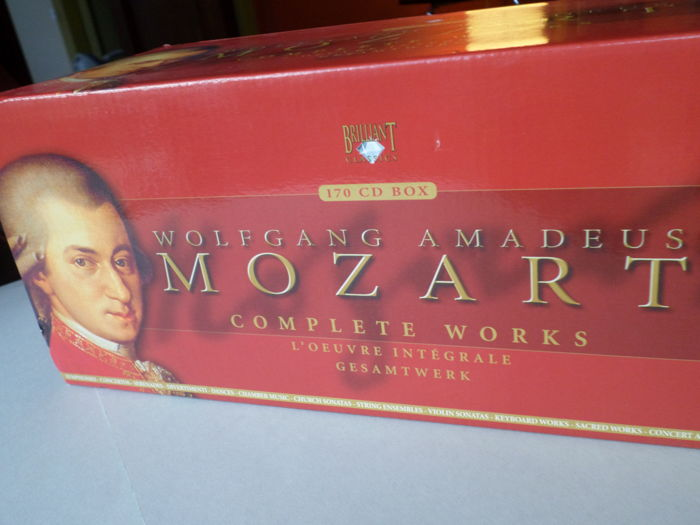 170 CD's W. A. Mozart, Complete Works by Briliant Classics