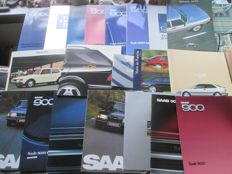 Car brochures (SAAB, 20 x mostly comprehensive brochures, 1978-2000)