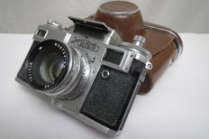 "Camera ""Kiev-4""-(Workable) (prototype Contax Carl Zeiss Jena) The USSR  1947-1985 ""Arsenal""(Kiev)"