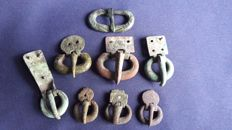 Roman Military Belt Buckles - 3,0 - 6,2 cm. (8 pcs)