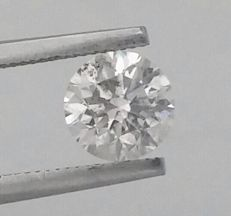 Diamond of  1.05 carat , D color , SI1 clarity , Big AIG certificate + Laser Inscription on Girdle , 3 x EX .